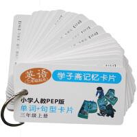 PEP小学英语配套单词句型卡片三四五六年级上册全套 带发音
