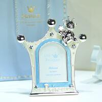 宝宝相框摆台 可爱皇冠金属创意相框 简约儿童礼物相框