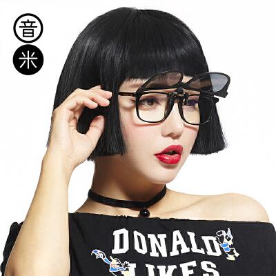 音米偏光圆脸墨镜夹片式太阳镜女近视墨镜夹片男潮开车夹片眼镜女5999超轻偏光夹片,遮光清晰,近视镜秒变太阳镜