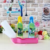 【支持礼品卡】宠物用品 宠物旅游 简易饮水器旅行水壶户外 颜色随机500ML 5zx