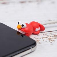 小动物数据线保护套iPhone充电线保护头苹果咬线器防折断一口iPad