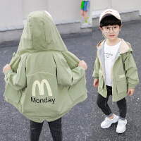 男童加绒外套儿童春秋洋气风衣中长款中小童上衣