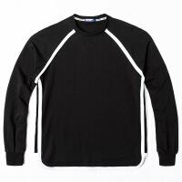 2017男装卫衣秋季新品男士加肥加大大码男装胖子一件代理加盟 黑色