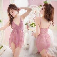 套装制服诱惑sm女式真人性感透明蕾丝吊带睡裙424