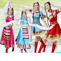 藏族舞蹈演出服女藏族水袖无袖演出服装藏服民族表演服装