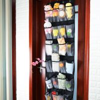 创意门后鞋架墙上多层壁挂式牛津布24格收纳袋挂袋挂门鞋架j 加尼龙网(透气)