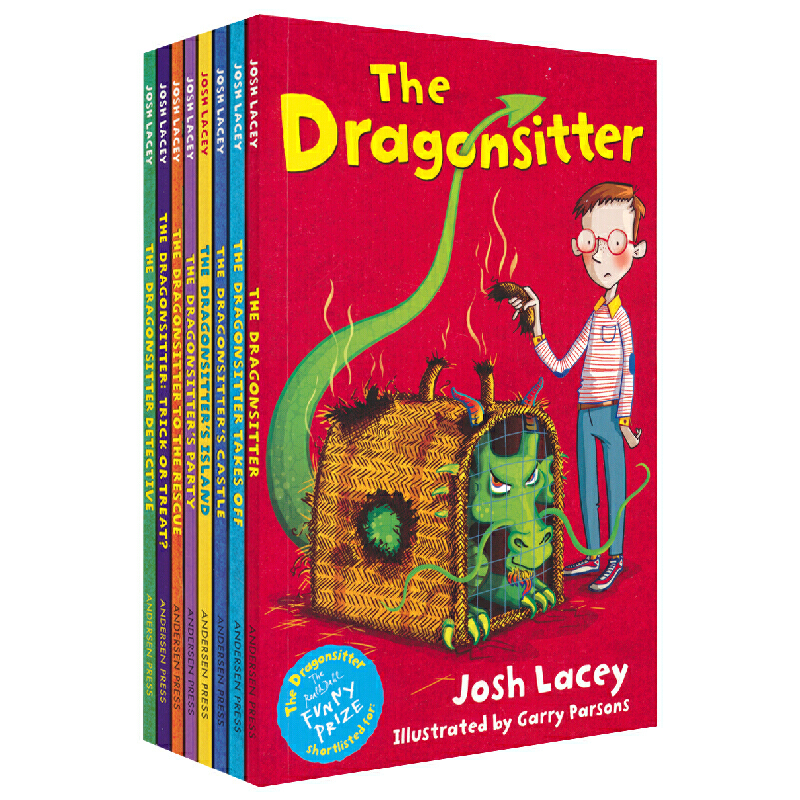 The Gragonsitter Collection 我成了龙保姆8册套装 儿童英文章节书小说 儿童想象力英语故事 课外阅读素材 英文原版进口图书 罗尔德趣味图书书单