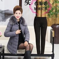 20180329044936337妈妈装冬装棉衣40岁50中年女装中长款加厚外套中老年宽松保暖棉袄