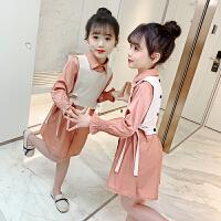 女童套装裙儿童时髦裙子中大童春秋女孩童装