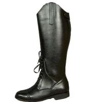 AOTU 靴子男牛皮高筒男长靴子高筒靴男 军靴 仪仗队阅兵靴骑马靴 鞋面牛皮 内里网纱