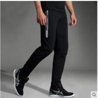 大方显瘦篮球裤反光跑步长裤运动裤男长裤修身棉薄款直筒休闲针织卫裤