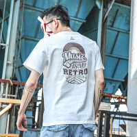 夏季新款字母印花潮流T恤男日系圆领半袖青少年宽松百搭上衣