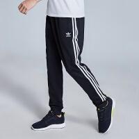 adidas阿迪达斯三叶草男裤2019春季新款运动长裤红色运动裤DX3618