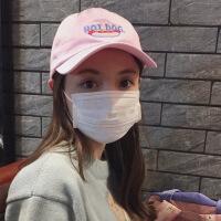 韩版潮人男女百搭纯色棒球帽子夏天街头黑粉色学生遮阳鸭舌帽情侣 可调节