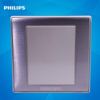 飞利浦墙壁面板开关插座金属系列86型Q8 101空白面板暗盒电工面板