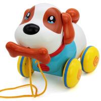 智能拉绳宠物拉线狗音乐电动机器狗婴儿童宝宝学步拖拉玩具1-3岁 音乐拉线狗(单色)