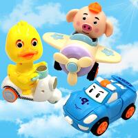 儿童玩具惯性回力小汽车男女孩宝宝1-2-3岁抖音同款按压式小黄鸭