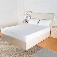 六面全包床笠防水床罩床垫套防尘污席梦思保护套带拉链可拆卸定做 六面全包-可脱卸拉链 白色款
