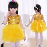 儿童公主裙表演服小学生合唱服花童礼服蓬蓬纱裙女童舞蹈演出服装