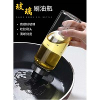厨房耐高温调料瓶 硅胶烧烤刷子烘焙工具油刷抹油瓶 透明玻璃油壶