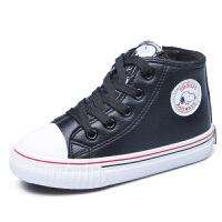 史努比童鞋男童棉鞋儿童帆布鞋冬季新款中大童休闲鞋儿童板鞋