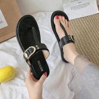 韩版女士单鞋仙女风拖鞋时尚休闲平底鞋软底舒适女鞋