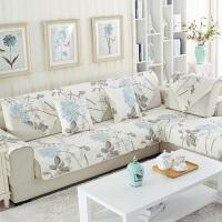 田园生活L型贵妃沙发垫防滑全棉布艺四季通用组合套装1+2+3三件套