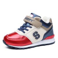 史努比童鞋男童运动鞋新款儿童休闲鞋加棉加厚棉鞋保暖鞋