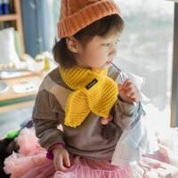 男女童围巾秋冬韩版儿童甜美可爱小童宝宝围巾冬毛线1-3-4-5-6岁