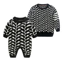 婴亲子装女宝宝套头针织衫秋冬季全家装一家三口装