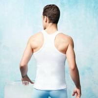 【都市丽人】男士透气运动背心 FV7601健身跑步工字性感窄后背吸汗速干背心