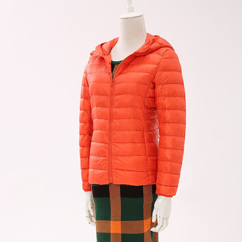秋冬时尚韩版外套 2018新款修身连帽轻薄短款棉服女装