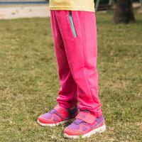 【下单5折】探路者童装 2018春夏新款男女童舒适弹力透气休闲裤运动裤QAMG85084