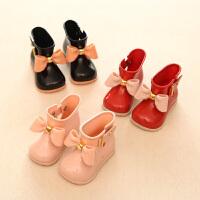 �和�雨鞋塑�z低筒防滑小孩水鞋中小童可�酃�主蝴蝶�Y����雨靴