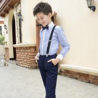 儿童礼服男孩套装六一中小学生主持人花童背带裤