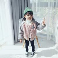 儿童外套2017秋冬季新款童装羊羔毛女童棒球服 女宝宝外套 179715