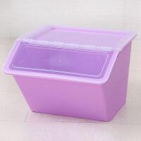 大号收纳箱塑料有盖衣服儿童玩具零食品整理箱厨房储物箱透明 手提式大号尺寸