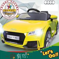 奥迪儿童电动车四轮摇摆双驱遥控电瓶车婴儿小孩玩具车可坐人汽车 v3m
