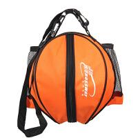 篮球包 足球 排球 篮球通用高档防水牛津布男女运动训练单肩包 圆形球包 橙色