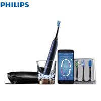 飞利浦 (PHILIPS) 电动牙刷 蓝牙版 成人声波震动钻石系列(自带刷头*4+充电旅行盒+充电玻璃杯) HX995