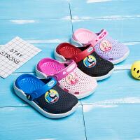 儿童拖鞋夏季男童浴室潮中小童亲子宝宝女童沙滩凉拖鞋包头