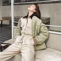 七格格工装女韩版宽松学生2019新款冬季短款棉衣棉袄厚外套潮