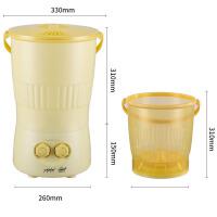 可意简易懒人洗袜子神器便携式小型分桶洗衣机半全自动洗衣桶电动 半自动两桶一盖 不水排水