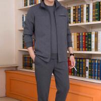 运动套装男三件套中年男士休闲运动服装爸爸跑步运动衣