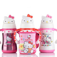 Hello Kitty凯蒂猫KT保温儿童软吸管学饮宝宝把手杯3611/3701