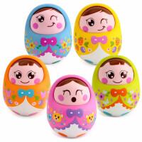 婴幼儿玩具 大号不倒翁娃娃玩具宝宝儿童早教益智礼盒装生日礼物 颜色随机