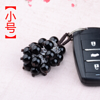 汽车钥匙扣挂件男女士腰挂创意情侣款红玛瑙水晶钥匙链圈饰品
