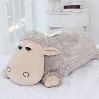 可爱小羊玩偶棉羊羊驼毛绒玩具公仔床上大抱枕布娃娃女孩睡觉着的按摩
