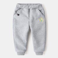 儿童棉裤男童裤子1小童装3岁宝宝长裤冬装加绒运动裤加厚休闲卫裤
