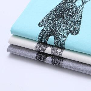 【下单立享5折】amii2017夏季新款大童短袖纯色休闲男童T恤可爱印花款儿童装